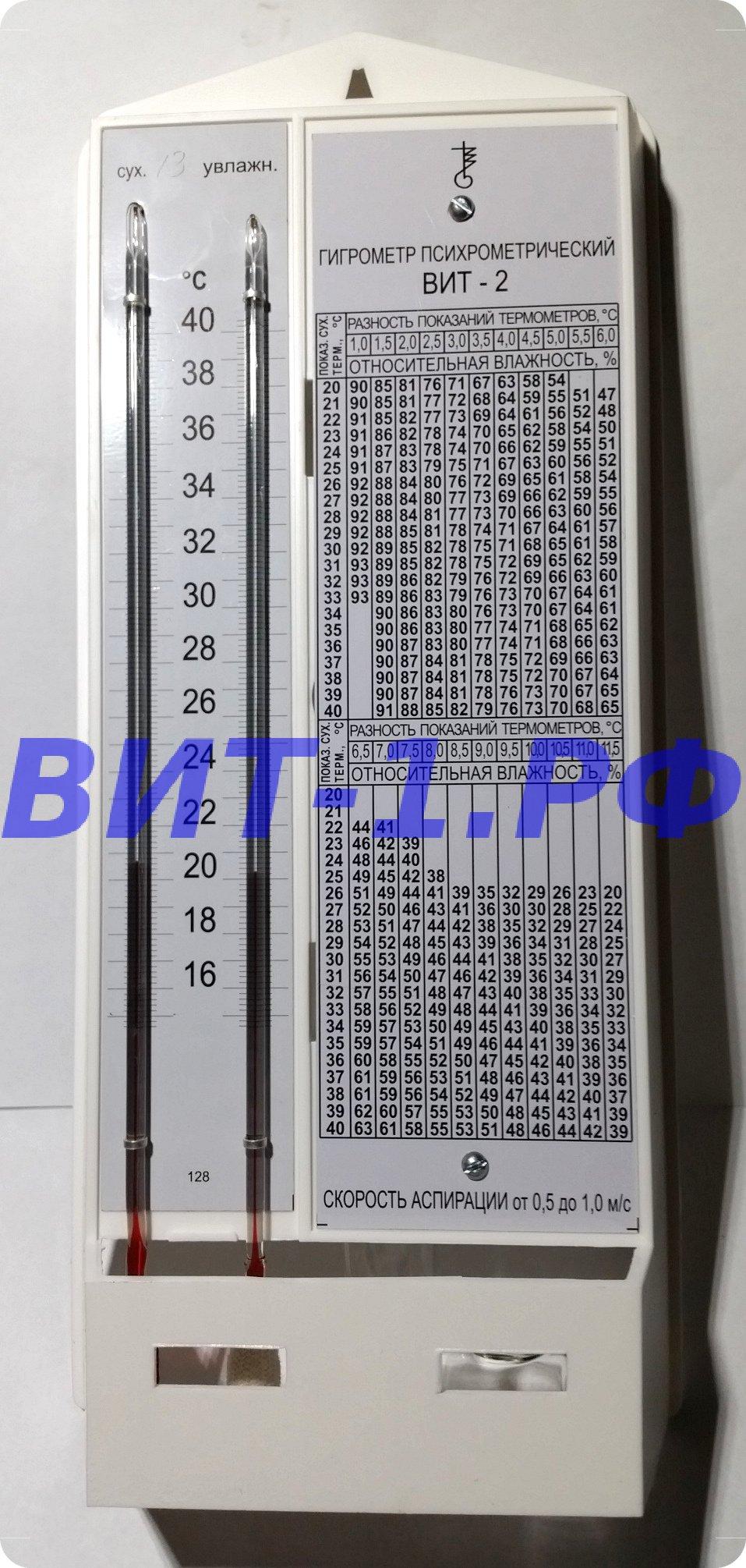гигрометр психрометрический вит 2 инструкция