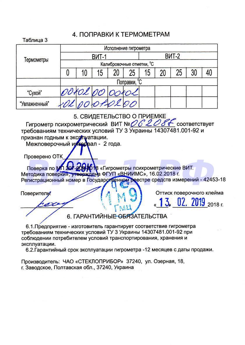 Паспорт Стеклоприбор